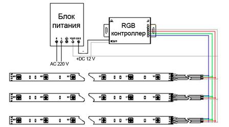 Схема подключения точечных светодиодных светильников фото 381