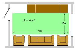 Расчет площади под теплый пол