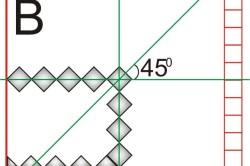 Схема разметки для укладки плитки.
