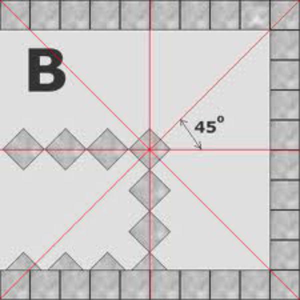 Схема разметки для укладки