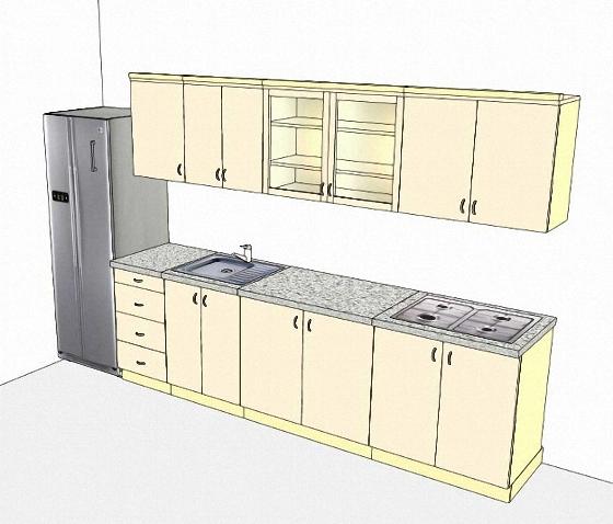 Последовательность расстановки мебели в маленькой кухне