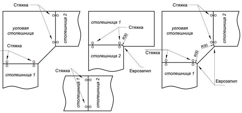 Схема соединения деталей