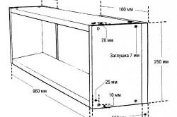 Схема-пример размеров навесной полки