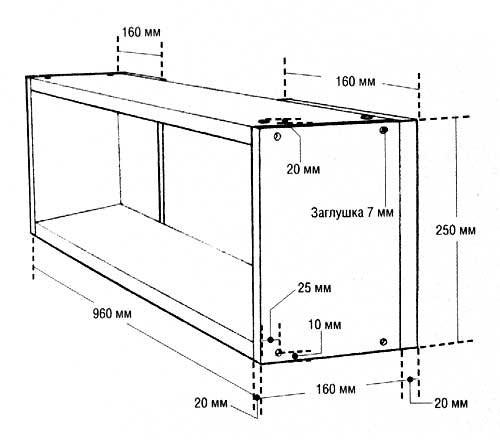 Схема-пример размеров навесной