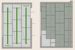 Схема укладки листов покрытия сухой стяжки