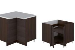 Угловой г-образный кухонный шкаф