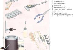 Инструменты для реставрации стола