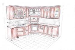 Эскиз реставрации кухни