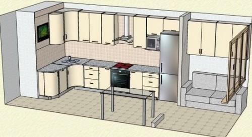 Схема переделки балкона в кухню