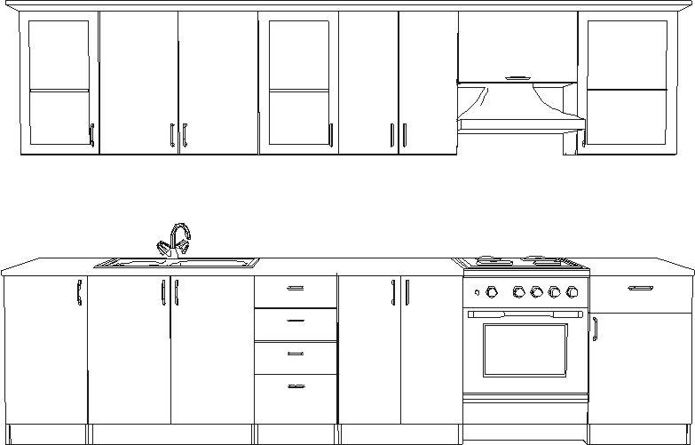 Схема рабочих зон кухни