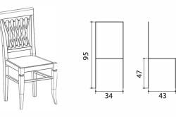 Схема стула и размеры