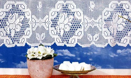 вязание крючком шторы на кухню схемы фото