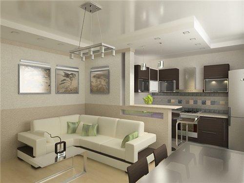 кухня с гостиной 20 кв.м дизайн фото