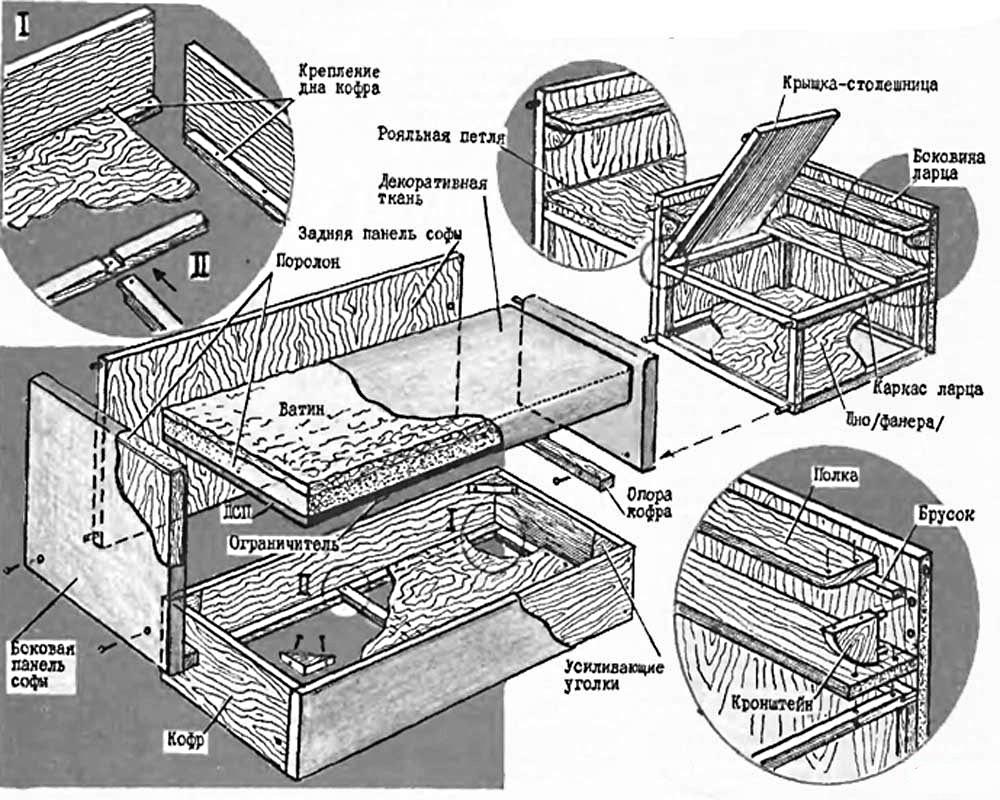 схема дивана уголка