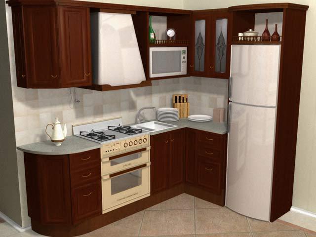 Встроенная кухня отлично подходит для