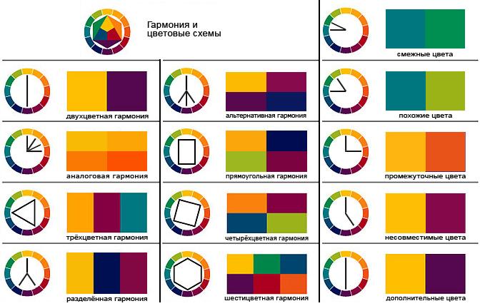 Цветовые схемы для оформления