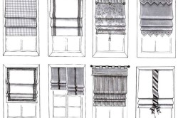 Варианты римских штор