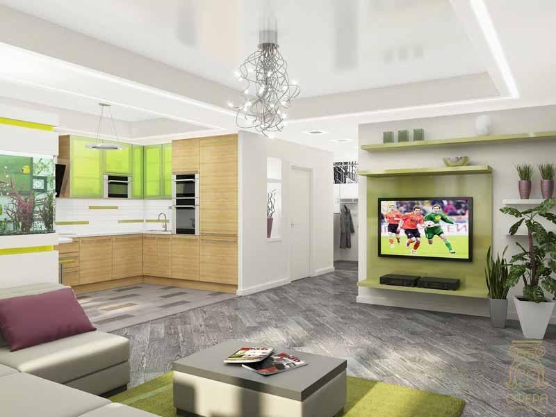 Кухня и гостиная вместе дизайн хрущевка