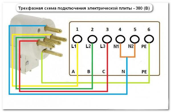 Трехфазная схема подключения