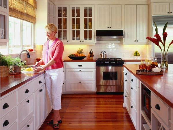 Дизайн большой просторной кухни