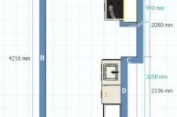 Схема кухни с нишей