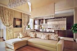 Кухня совмещенная с гостиной и столовой