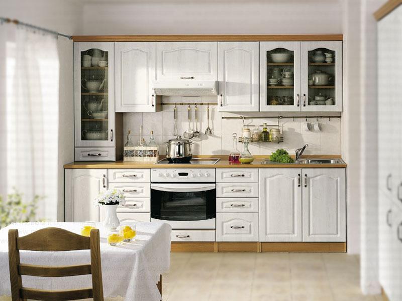 Кухня в фисташковом цвете