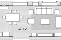 План кухни-зала