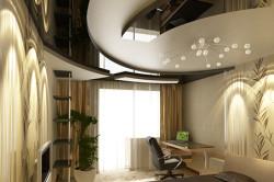 Пример зонирования при помощи потолочной конструкции