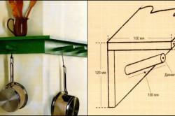 Схема размеров настенной полки