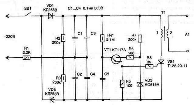 Схема газовой плиты с электроподжигом