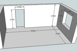 Схема расчета площади пола в комнате