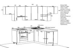 Схема чертежа размеры заказной кухни