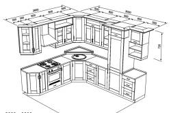 Схема типового проекта кухни