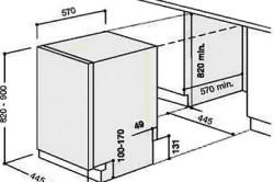 Схема установки встраиваемой посудомоечной машины