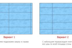 Схема вариантов оптимального расположения плитки