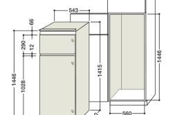 Размеры шкафа для встраиваемого холодильника