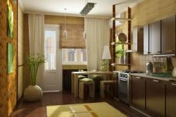 Бамбук в кухонном интерьере