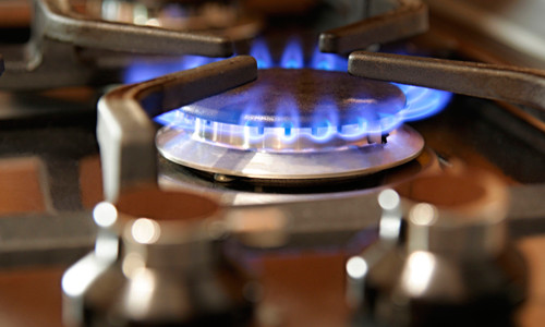 Подключенная газовая плита