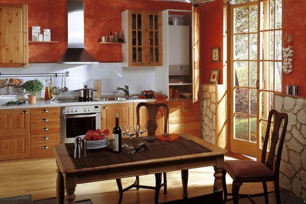 Газовый котел в интерьере кухни