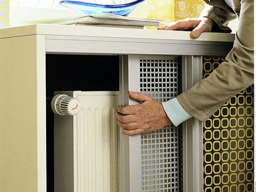 Батарея в специальном шкафчике