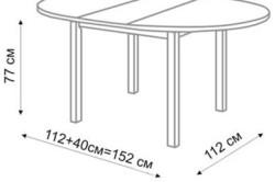 Схема кухонного стола
