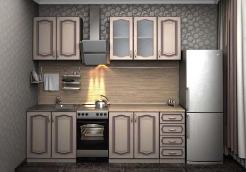 Собранный кухонный гарнитур