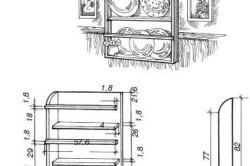 Схема расположения крепежных элементов полки
