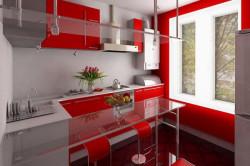Прозрачная столешница на кухне