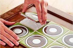 Оклеивание мебели плиткой