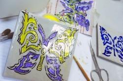 Рисунок на керамической плитке