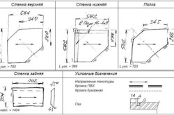 Пример схемы углового шкафа
