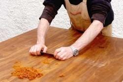 Обработка рабочей поверхности
