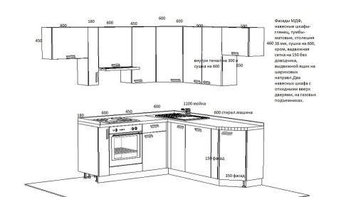 Схема проекта кухни